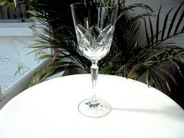 Mikasa Clear Crystal Tall Stem Wine Glass Cut Crystal - $9.90