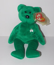 Ty Beanie Baby Erin Plush 8in Teddy Bear Stuffed Animal Retired with Tag... - $9.99
