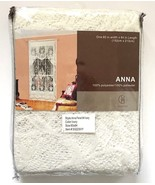 Vivatex Lace Curtain Anna Beige Floral Rod Pocket Panel 60 x 84 New in P... - $9.70