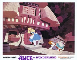 Alice In Wonderland Original Disney Lobby Card R74 White Rabbit - $18.49