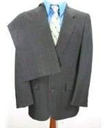 Vintage CHRISTIAN DIOR Gray WOOL Pinstripe 2 Pc Suit Blazer 40R~Pants 34... - $58.80