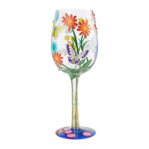 "Bejeweled Butterfly ""Designs by Lolita"" Wine Glass 15 o.z. 9""  Gift Boxed image 2"