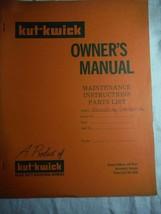 Kut-Kwick EDV-1600-36 EDV-1000-36 lawn tractor orig owner's parts manual *rare - $16.41