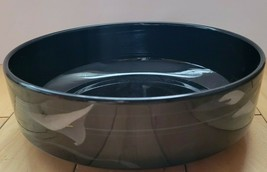 "Vtg Mikasa Galleria Opus Black 8"" Round Vegetable Serving Bowl Discontinued - $14.50"