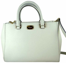 NEW! Michael Kors Kellen Medium Leather Tote/Satchel-Optic White - $289.88