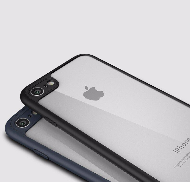 Apple iPhone X 7 Shockproof Clear Ultra Thin Hard Hybrid Bumper Back Case Cover image 4