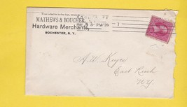MATHEWS & BOUCHER HARDWARE MERCHANTS ROCHESTER, NY 1899 - $2.68