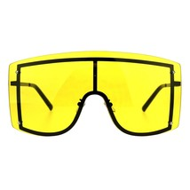 SUPER Oversized Shield Sunglasses Womens Fashion Cover Shades Color Lens - $15.95