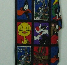 Vintage 1997 Looney Tunes Stamp Collection 100% Polyester Tie Bugs Bunny... - $14.03