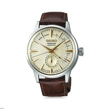 New Seiko Presage Champagne Dial Leather Strap Men's Watch SSA387 - $575.00