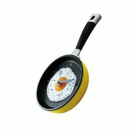 PANDA SUPERSTORE 8-inch Creative Fashion Decorative Wall Clock-Fried Eggs Pan,YE - $34.67
