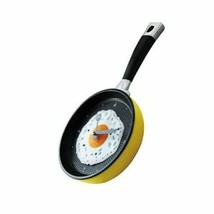 8-inch Creative Fashion Decorative Wall Clock--Fried Eggs Pan,YELLOW