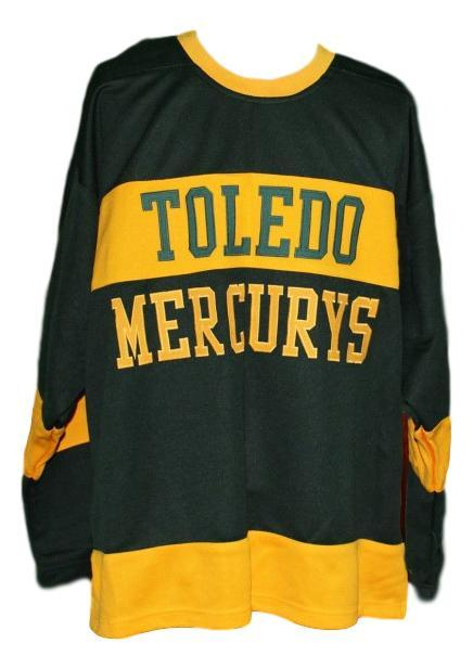 Custom Name # Toledo Mercurys Retro Hockey Jersey New Black Any Size