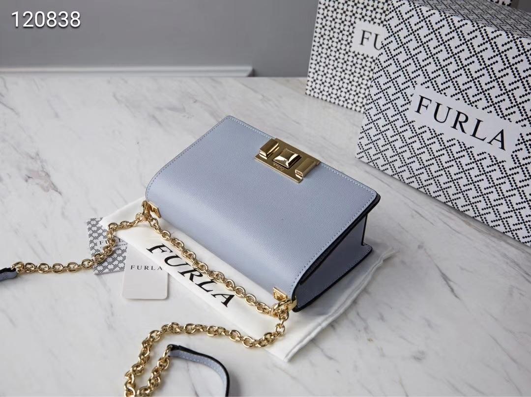 Genuine FURLA Bag MIMI mini Female Cross body Bag Light Blue