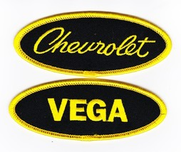 2 Chevy Vega SEW/IRON On Patch Emblem Badge Embroidered Chevrolet Car - $7.98
