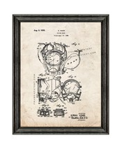 Diving Mask Patent Print Old Look with Black Wood Frame - $24.95+