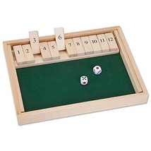 Bits and Pieces - 4 Player Shut the Box Wooden Table Game - Classic Box ... - $39.95