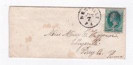 NEWVILLE PA JANUARY 7 UNKNOWN YEAR SMALL ENVELOPE - $2.98