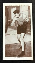 1938 WA & AC Churchman Boxing Personalities  #18 LEN HARVEY (A) - $7.87