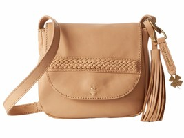 New Lucky Brand Women Sydney Leather Crossbody Bag Natural - $1.833,68 MXN
