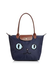Special Offeer France Made Longchamp Miaou Cat Blue Eyes Small Tote Bag ... - $150.00