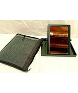 Mary Kay Travel Foldable Mirror with Stand in Mesh Zippered Case Bag - $4.90