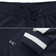 vkwear Men's Striped Athletic Running Jogging Gym Slim Fit Sweat Track Suit Set image 10