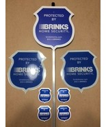BRINKS REFLECTIVE Staked Security Signs + 4 Double Sided Decals **BRAND ... - $25.99