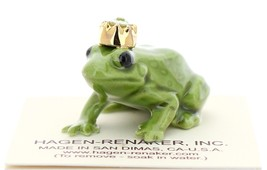 Hagen-Renaker Miniature Ceramic Frog Figurine Birthstone Prince 08 August