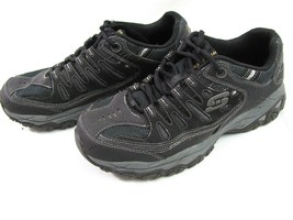 Skechers Black Memory Fit Running Sneaker Size 9 Mens Low Top Lace Up Sh... - $14.84