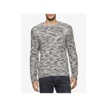 $98 Calvin Klein Jeans Men's Basket Rope Sweater, Black, Size L - $49.49