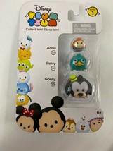 JAKKS PACIFIC Disney Tsum Tsum 3pk Figures: Goofy/Perry/Anna - Easter Basket New - $7.59