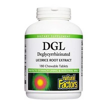 Natural Factors, DGL Licorice Root Chewable, Promotes a Healthy Stomach Lining a