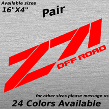 Custom Z71 Off road Chevy Truck Bed Side Decal Sticker Ready to Apply  - $20.99+