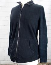 Gap Maternity Full Zip Sweatshirt Ribbed Stretch Top Size M Black Long Sleeve  - $25.74
