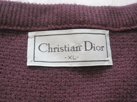 Vintage Men's Christian Dior V Neck Pullover Sweater Sz XL (Made in USA) - $31.96