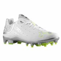 Under Armour Banshee Men's 12.5 Low Lacrosse Cleats White / Silver w/Soc... - $27.67
