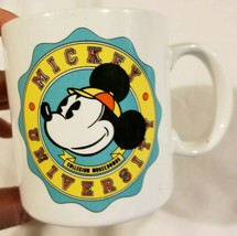 Rare Vintage Mickey Mouse University Coffee Mug Tea Cup 1985 80s Applaus... - $15.67