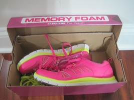 BNIB Women's Skechers Flex Appeal Spring Fever Hot Pink/Lime, size 6.5, 11727 - $41.73