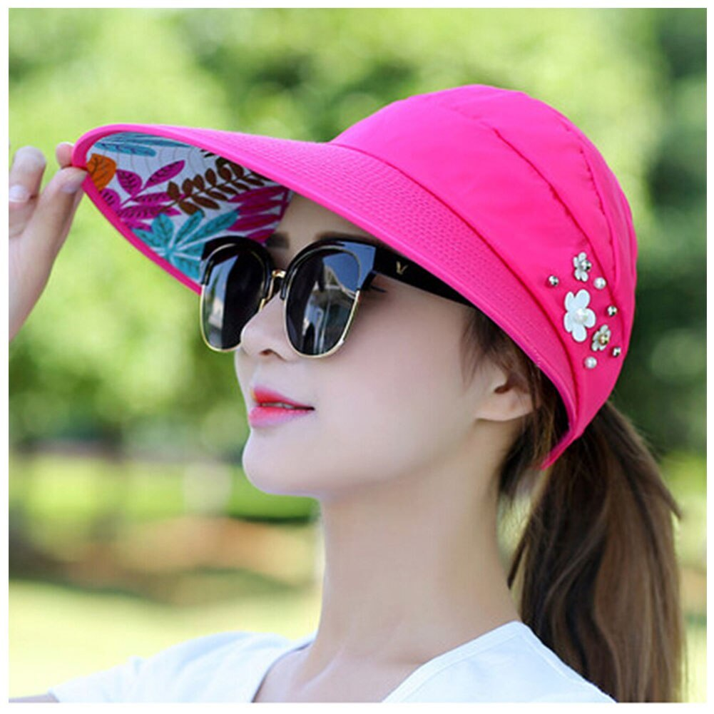 Summer Style Women Foldable Wide Large Brim Floppy Beach Gorro Hats Chapeu Outdo image 2