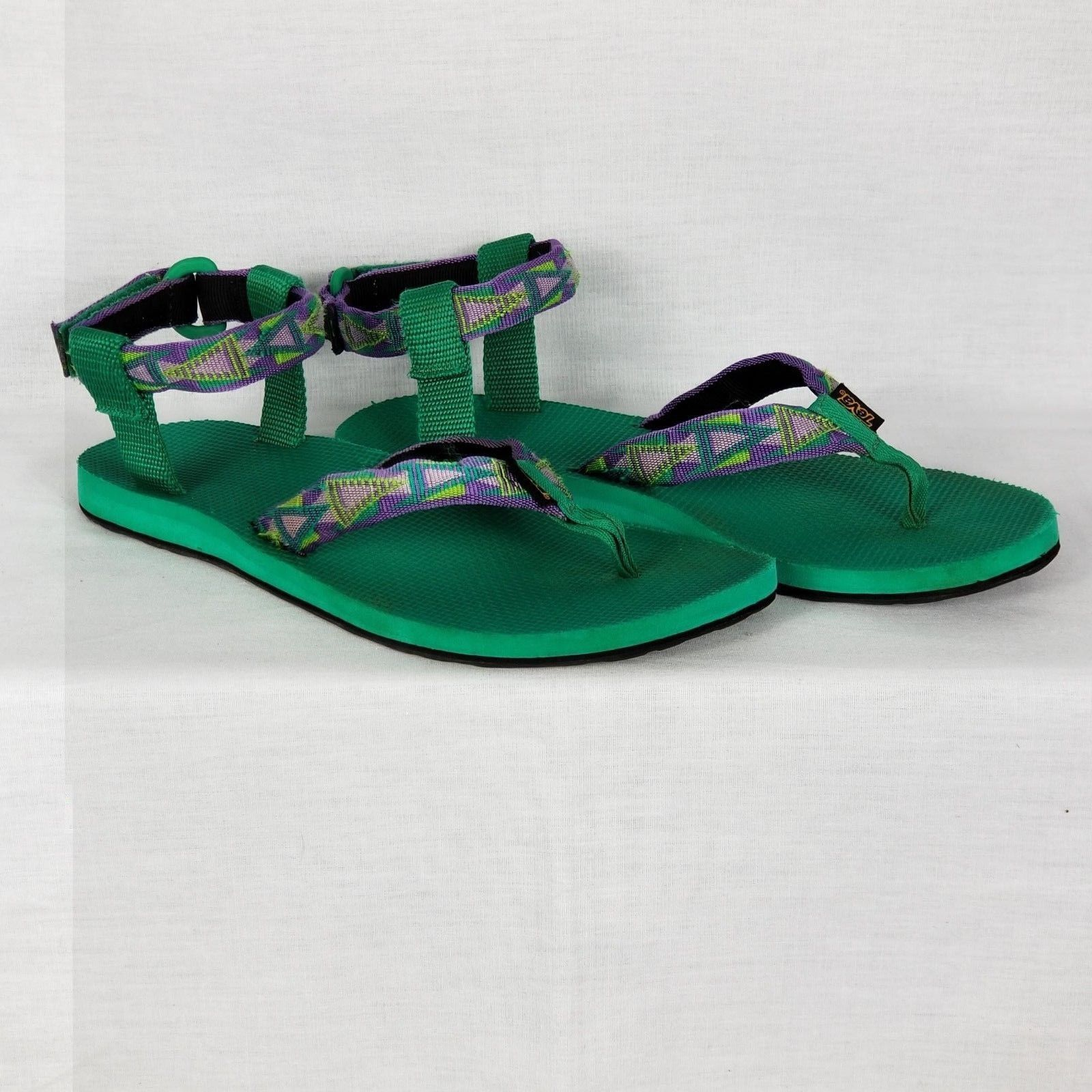 167bced7ea Womens TEVA 1003986 Green Thong Ankle Cuff Sport Sandals Shoes SIZE 10 EU 41