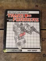 Transformers Istruzioni Libretto Hot Spot Vintage di Azione Figura Gioca... - $9.89
