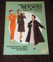 Tom Tierney Paper Dolls   Greast Fashion Designs of the 40's  - New Uncu... - $9.74