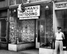 8x10 Vintage Photo Tattoo Shop Ink Ny City nyc Brooklyn New York CIty Photo - $12.06