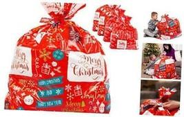 "Large Christmas Gift Bags – Set of 4 Xmas Present 36""x44"" Jumbo Extra La... - $22.66"