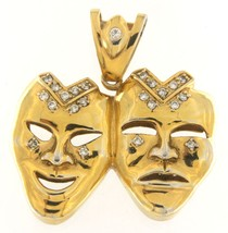 Comedy and tragedy Unisex Base Metal Gold Plated Charm - $79.00