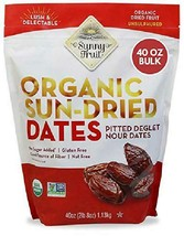 Organic Pitted Dates (Deglet Nour) - Sunny Fruit 40Oz Bulk Bag (2.5 Lbs) | No Ad - $22.76