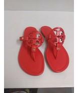 Tory Burch da Donna Pantofole Miller Veg Nappa Papavero Corallo Misura 7... - $205.05