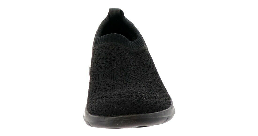 Skechers GO Walk Lite Knitted Slip-On Shoes Harmony Black 6M NEW A308763 image 4