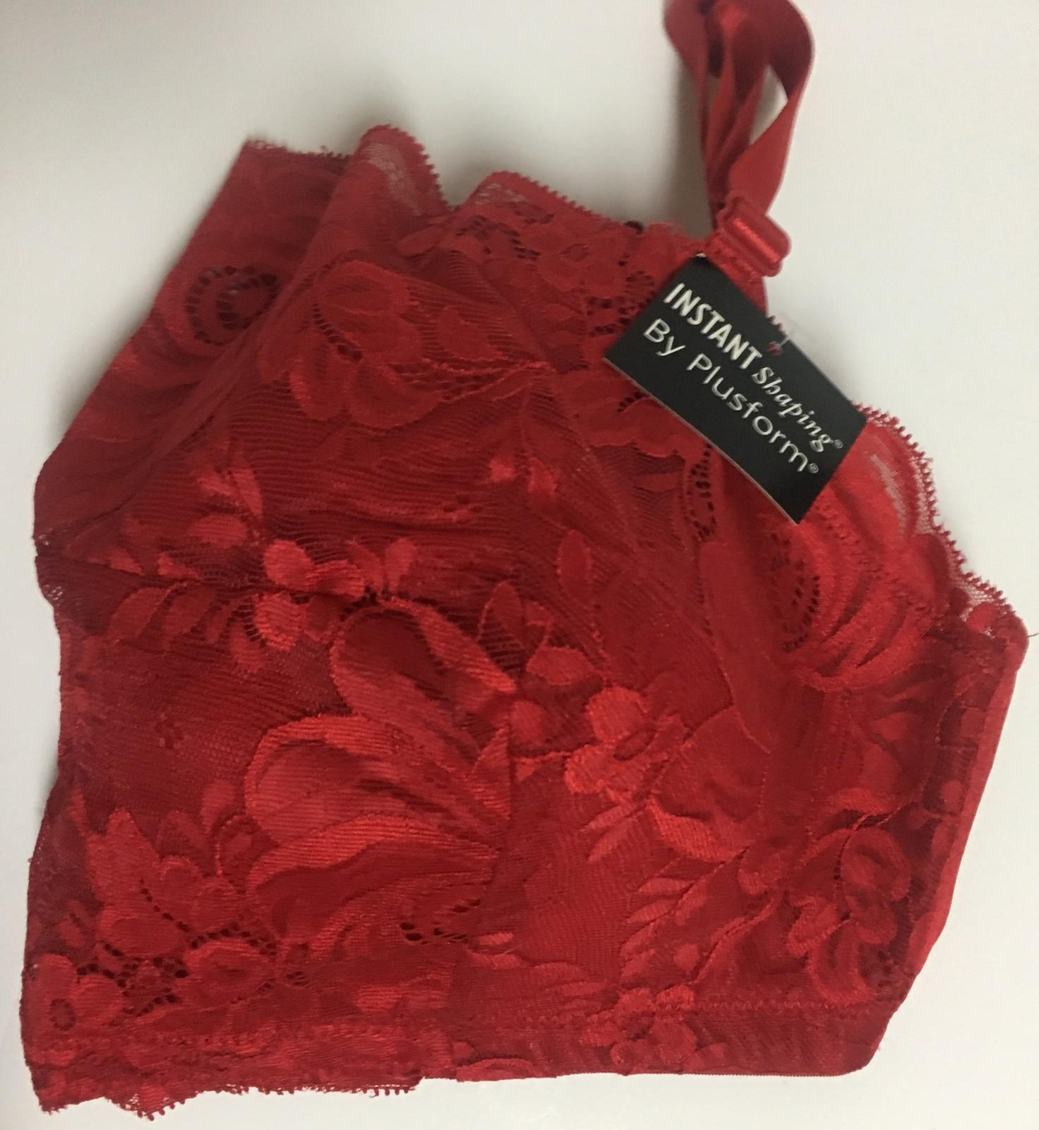 Plushform Red Lace Shaping Bra NWT Sz 38D